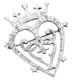 Luckenbooth Brooch Sterling Silver Mary Queen Scots Design 40mm
