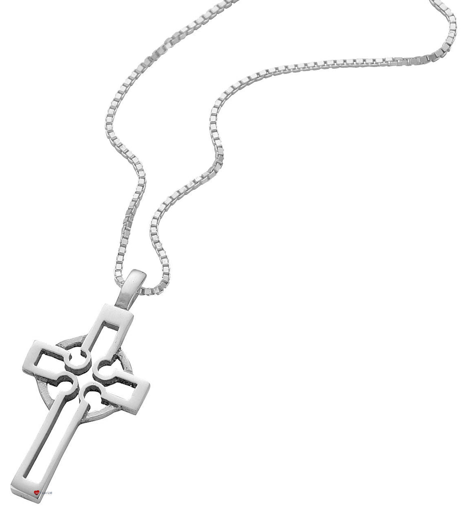 Pendant Cross Sterling Silver Design Based Celtic Standing Cross 35mm
