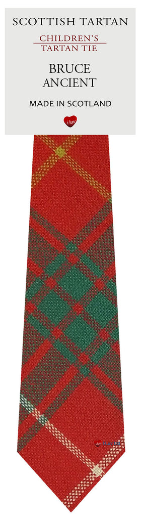 Boys All Wool Tie Woven Scotland - Bruce Ancient Tartan