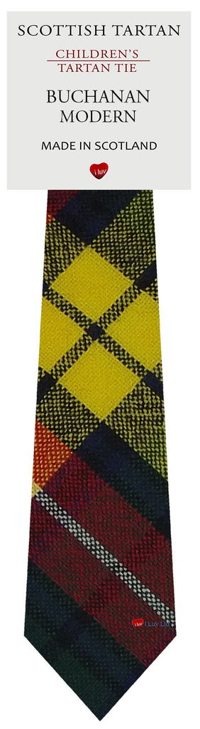 Boys All Wool Tie Woven Scotland - Buchanan Modern Tartan