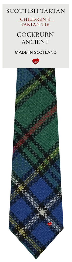 Boys All Wool Tie Woven Scotland - Cockburn Ancient Tartan