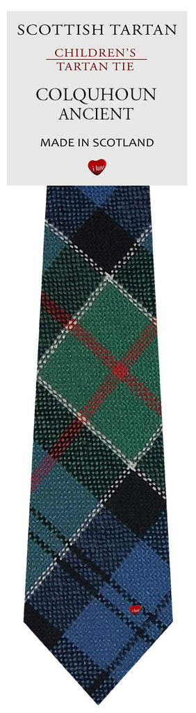 Boys All Wool Tie Woven Scotland - Colquhoun Ancient Tartan