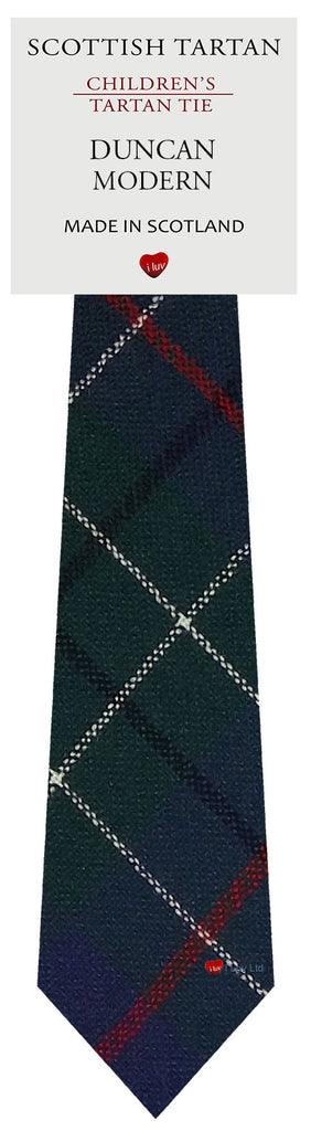 Boys All Wool Tie Woven Scotland - Duncan Modern Tartan