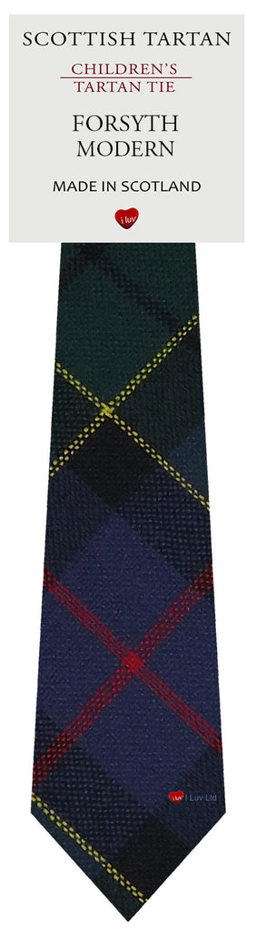 Boys All Wool Tie Woven Scotland - Forsyth Modern Tartan