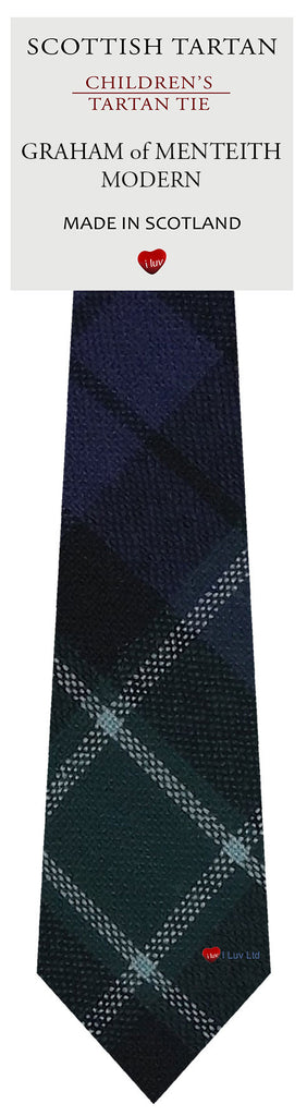 Boys All Wool Tie Woven Scotland - Graham of Menteith Modern Tartan