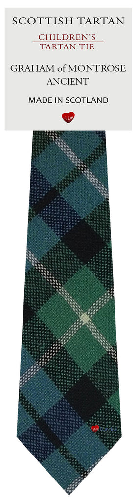 Boys All Wool Tie Woven Scotland - Graham of Montrose Ancient Tartan