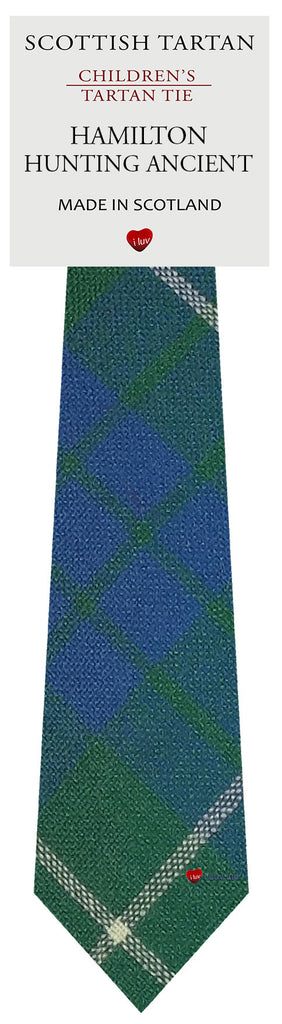 Boys All Wool Tie Woven Scotland - Hamilton Hunting Ancient Tartan