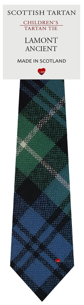Boys All Wool Tie Woven Scotland - Lamont Ancient Tartan
