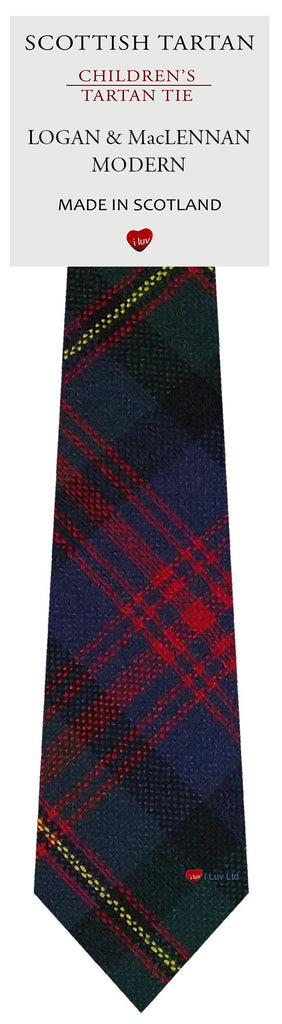 Boys All Wool Tie Woven Scotland - Logan and MacLennan Modern Tartan