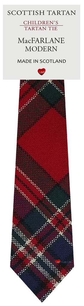 Boys All Wool Tie Woven Scotland - MacFarlane Modern Tartan