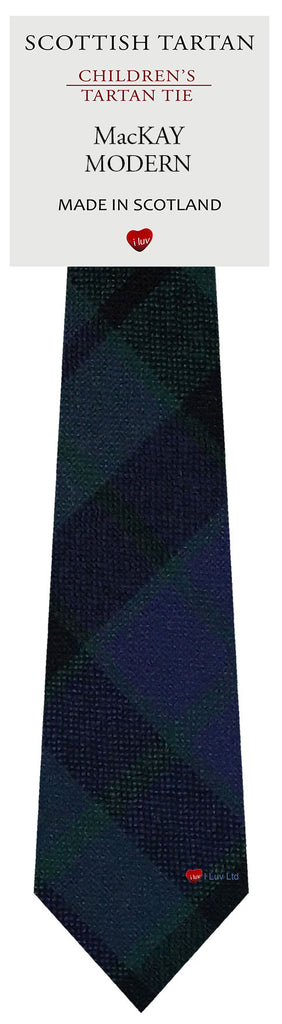 Boys All Wool Tie Woven Scotland - MacKay Modern Tartan