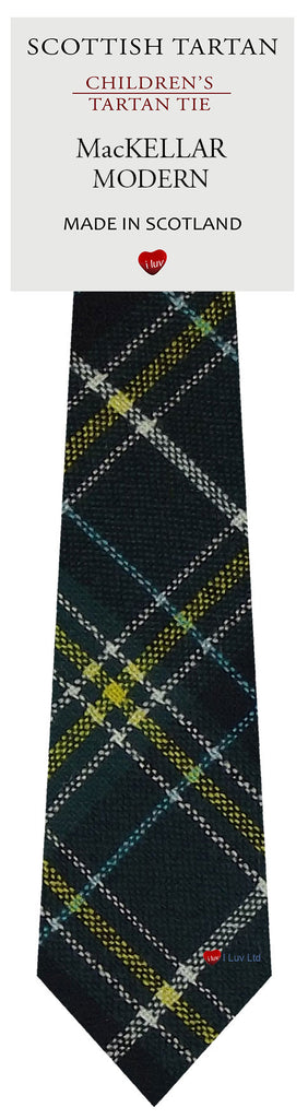 Boys All Wool Tie Woven Scotland - MacKellar Modern Tartan