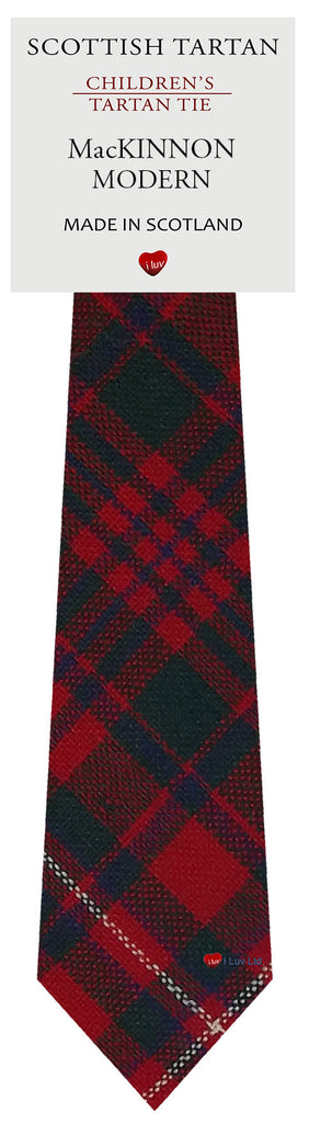 Boys All Wool Tie Woven Scotland - MacKinnon Modern Tartan