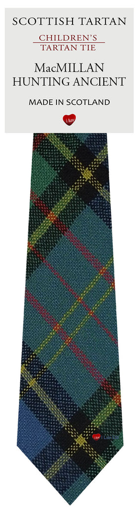 Boys All Wool Tie Woven Scotland - MacMillan Hunting Ancient Tartan