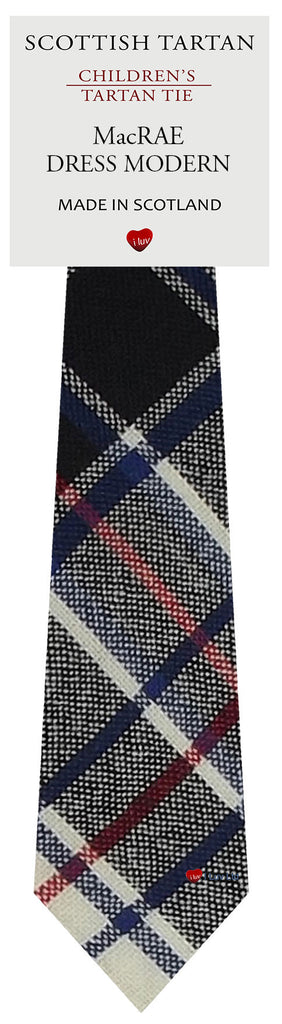 Boys All Wool Tie Woven Scotland - MacRae Dress Modern Tartan
