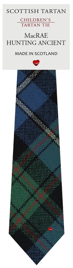 Boys All Wool Tie Woven Scotland - MacRae Hunting Ancient Tartan