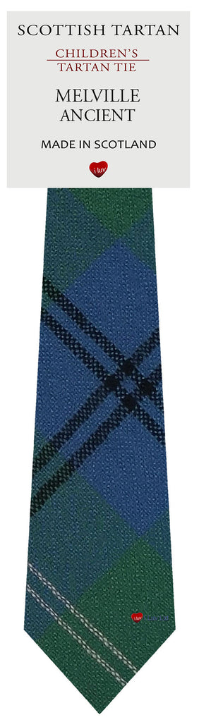Boys All Wool Tie Woven Scotland - Melville Ancient Tartan