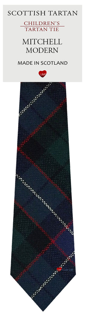 Boys All Wool Tie Woven Scotland - Mitchell Modern Tartan