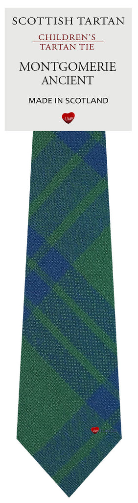 Boys All Wool Tie Woven Scotland - Montgomerie Ancient Tartan