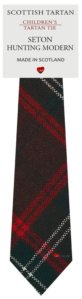 Boys All Wool Tie Woven Scotland - Seton Hunting Modern Tartan