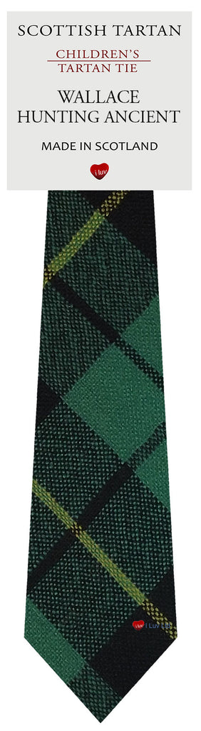 Boys All Wool Tie Woven Scotland - Wallace Hunting Ancient Tartan