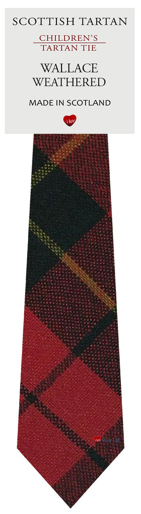 Boys All Wool Tie Woven Scotland - Wallace Weathered Tartan