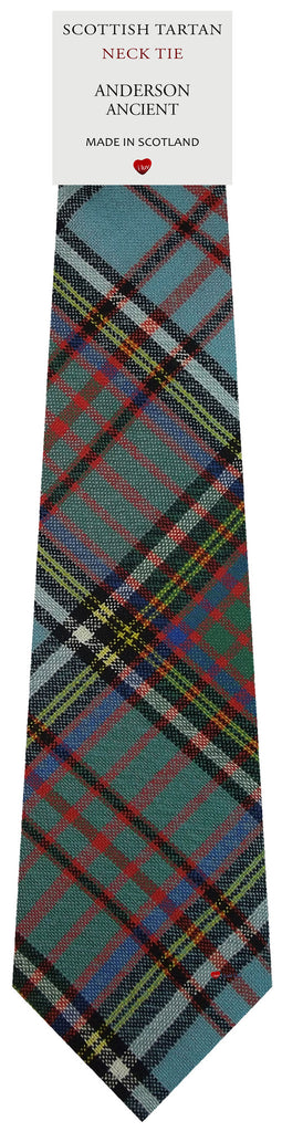 Mens All Wool Tie Woven Scotland - Anderson Ancient Tartan