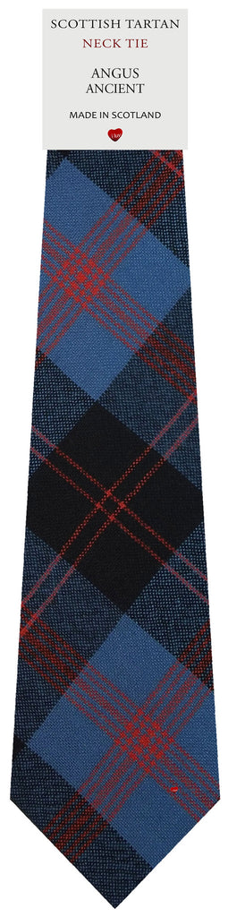 Mens All Wool Tie Woven Scotland - Angus Ancient Tartan