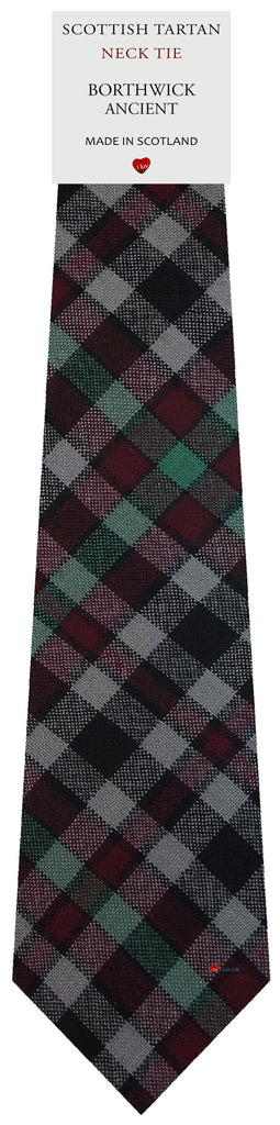 Mens All Wool Tie Woven Scotland - Borthwick Ancient Tartan