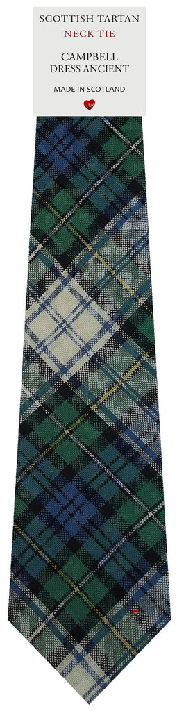 Mens All Wool Tie Woven Scotland - Campbell Dress Ancient Tartan