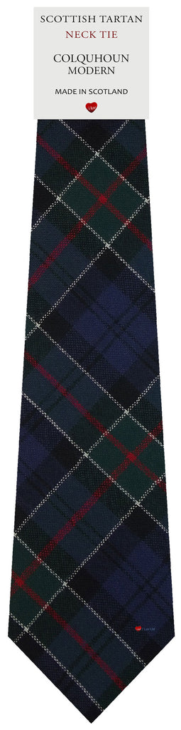 Mens All Wool Tie Woven Scotland - Colquhoun Modern Tartan