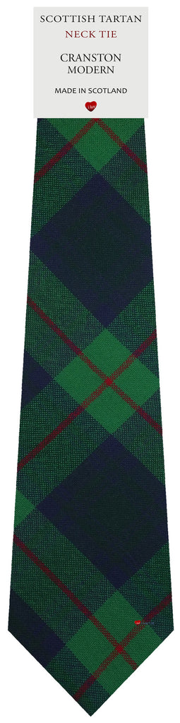 Mens All Wool Tie Woven Scotland - Cranston Modern Tartan