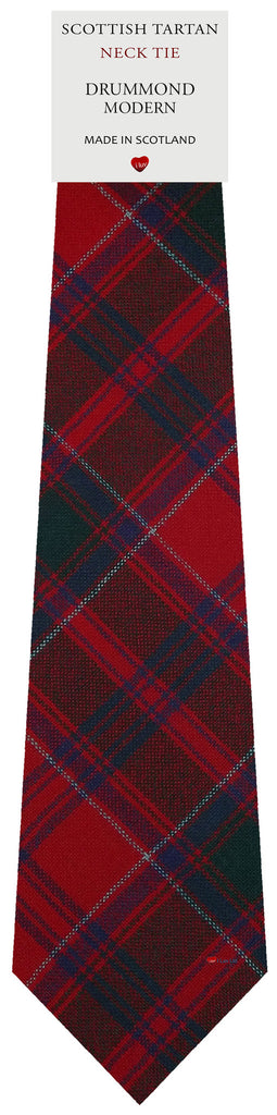 Mens All Wool Tie Woven Scotland - Drummond Modern Tartan