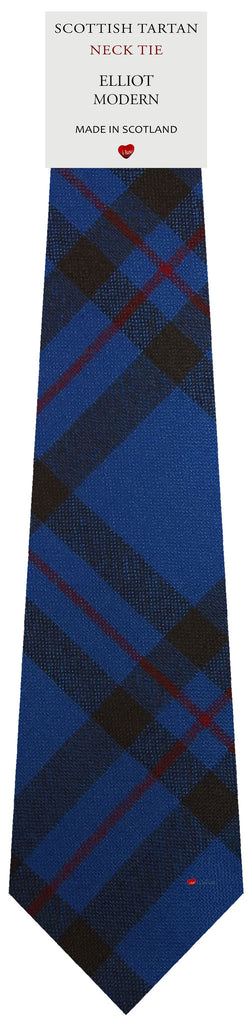 Mens All Wool Tie Woven Scotland - Elliot Modern Tartan