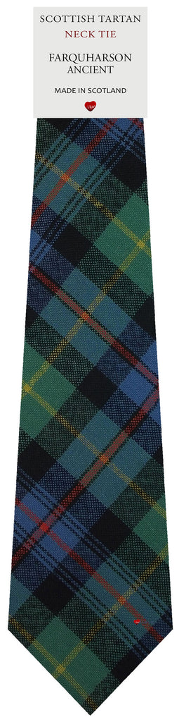 Mens All Wool Tie Woven Scotland - Farquharson Ancient Tartan