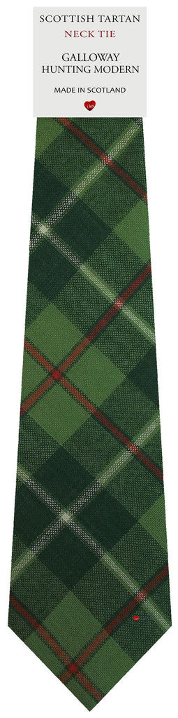 Mens All Wool Tie Woven Scotland - Galloway Hunting Modern Tartan