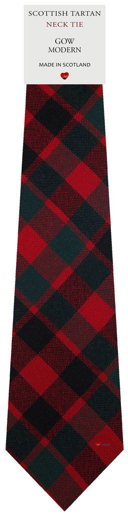 Mens All Wool Tie Woven Scotland - Gow Modern Tartan