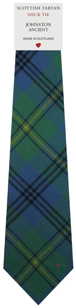 Mens All Wool Tie Woven Scotland - Johnston Ancient Tartan