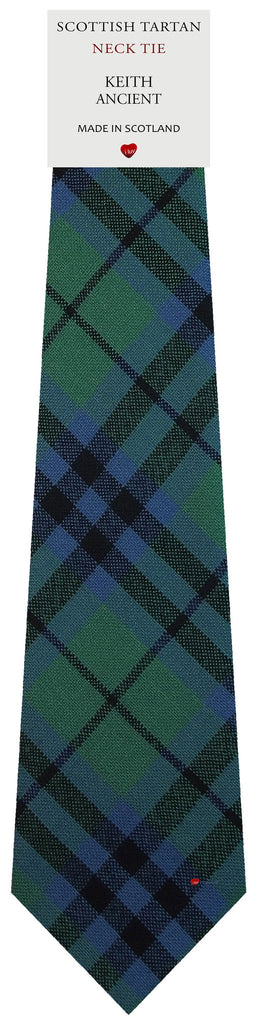 Mens All Wool Tie Woven Scotland - Keith Ancient Tartan