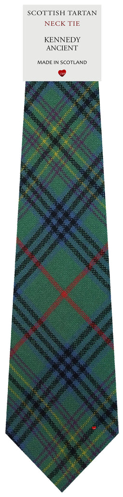 Mens All Wool Tie Woven Scotland - Kennedy Ancient Tartan