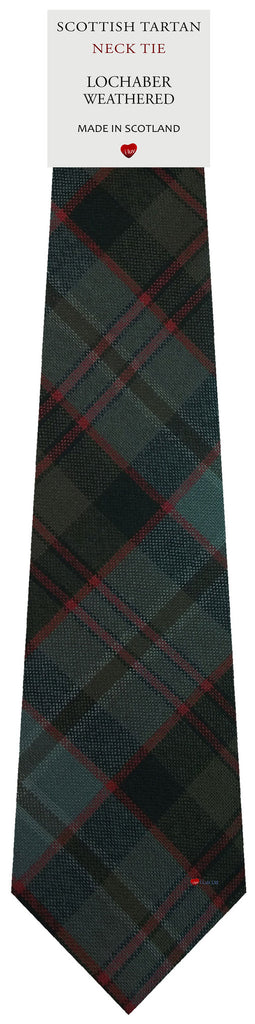 Mens All Wool Tie Woven Scotland - Lochaber Weathered Tartan