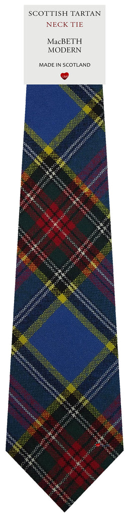Mens All Wool Tie Woven Scotland - MacBeth Modern Tartan