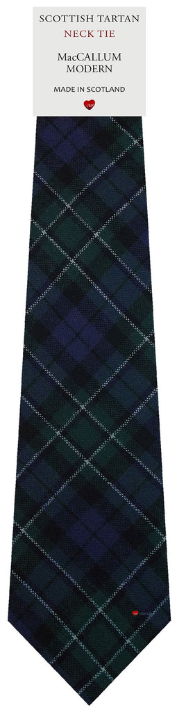 Mens All Wool Tie Woven Scotland - MacCallum Modern Tartan