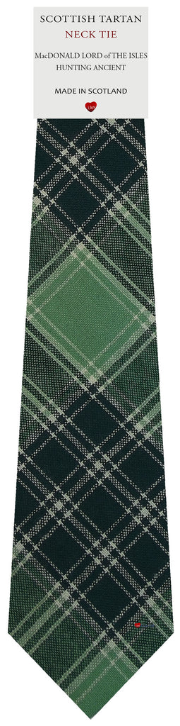 Mens Wool Tie MacDonald Lord Of The Isles Hunting Ancient Tartan