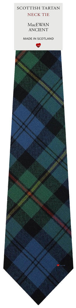 Mens All Wool Tie Woven Scotland - MacEwan Ancient Tartan