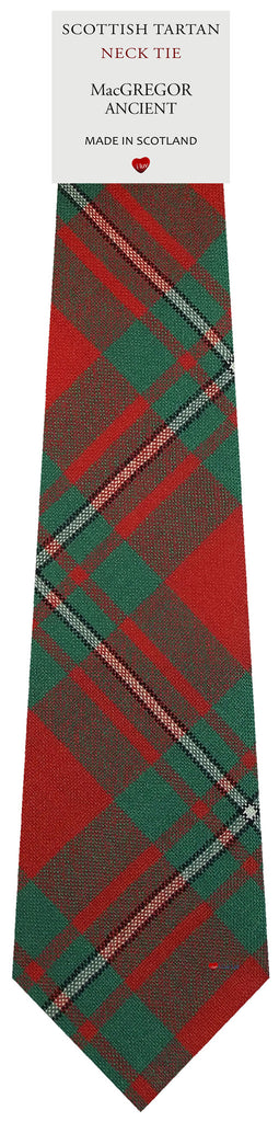 Mens All Wool Tie Woven Scotland - MacGregor Ancient Tartan