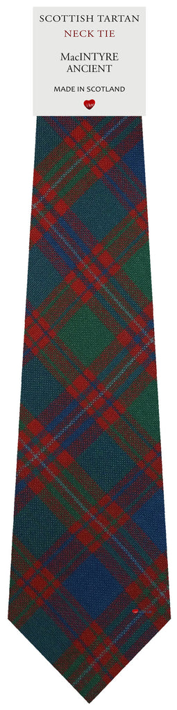 Mens All Wool Tie Woven Scotland - MacIntyre Ancient Tartan
