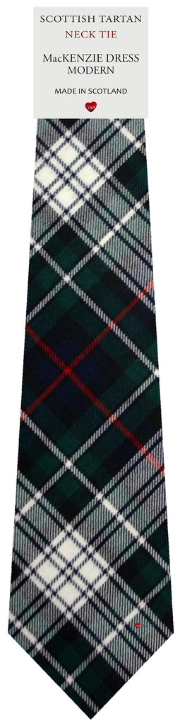 Mens All Wool Tie Woven Scotland - MacKenzie Dress Modern Tartan