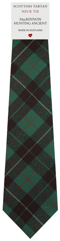 Mens All Wool Tie Woven Scotland - MacKinnon Hunting Ancient Tartan