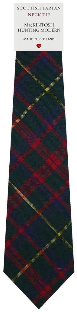 Mens All Wool Tie Woven Scotland - MacKintosh Hunting Modern Tartan